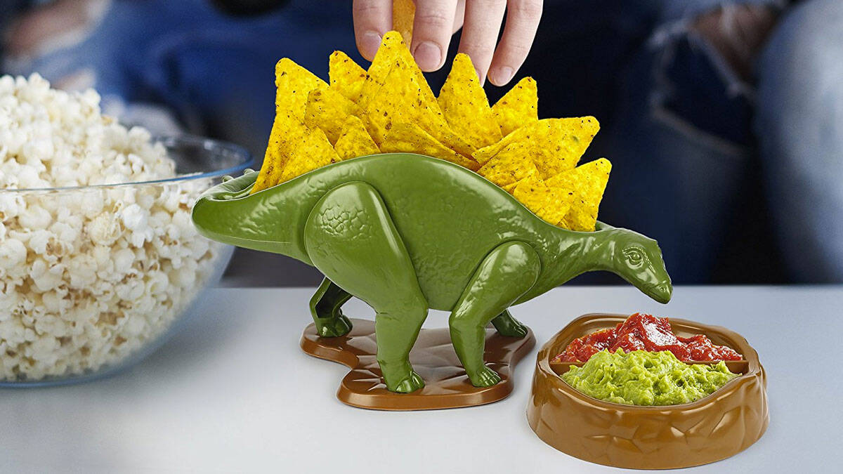Nachosaurus Chip & Dip Dish Set - http://coolthings.us