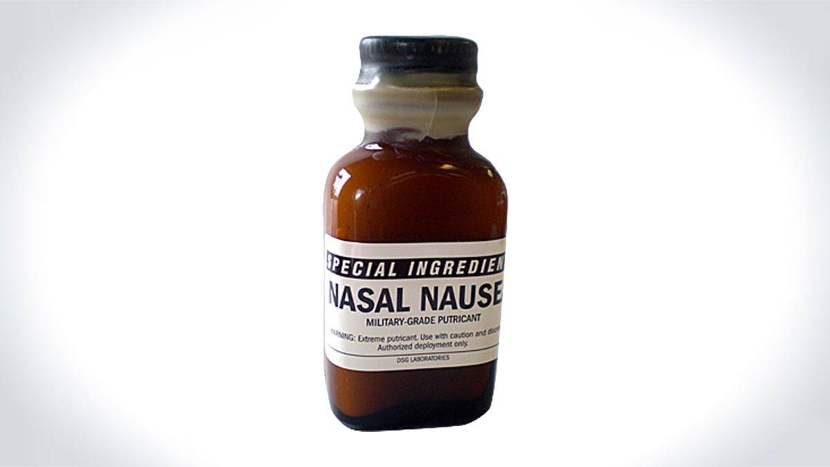 Nasal Nausea - Military-Grade Stink Solution - http://coolthings.us