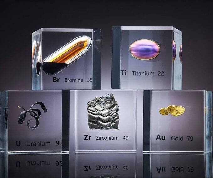 Natural Earth Elements Acrylic Cubes - http://coolthings.us