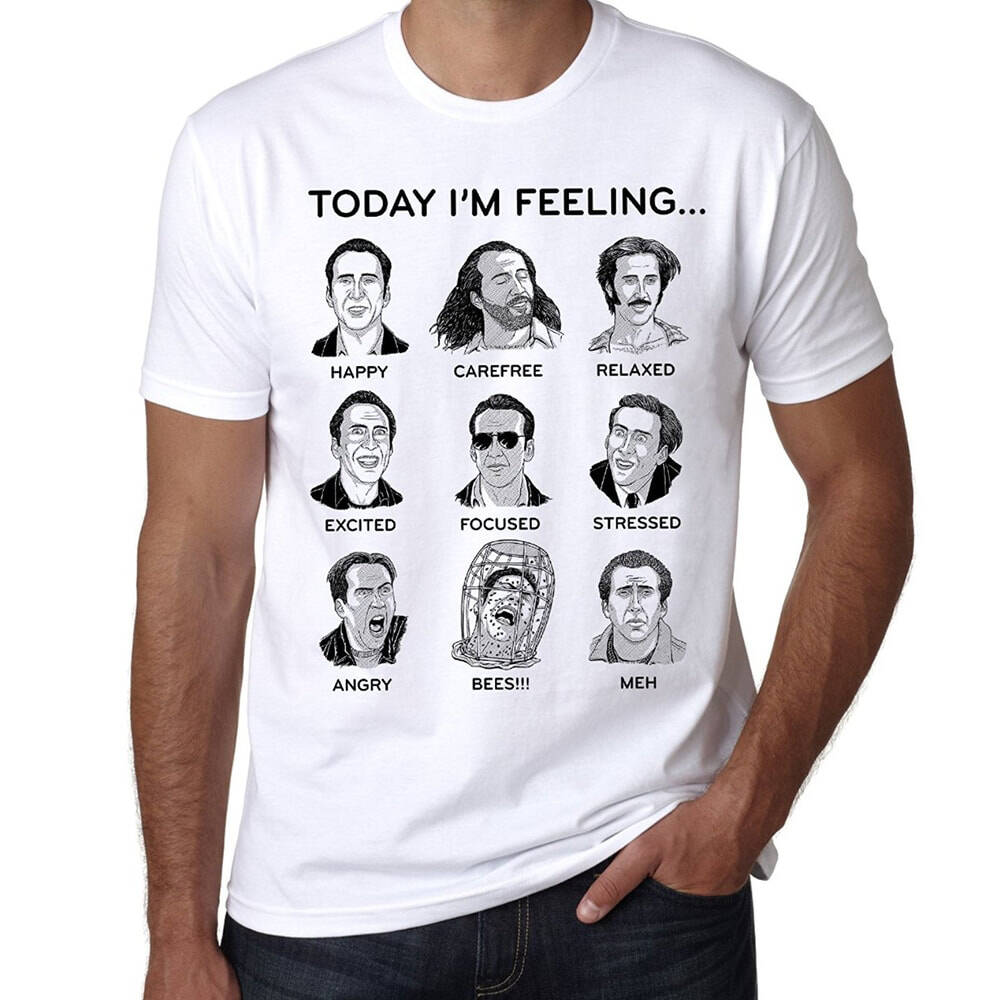 Nicolas Cage Emotions T-Shirt