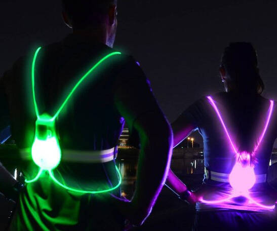The Glowing Safety Visibility Vest - http://coolthings.us