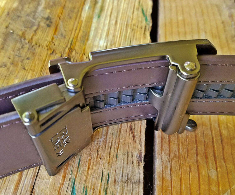 No Holes Track Leather Belt - http://coolthings.us