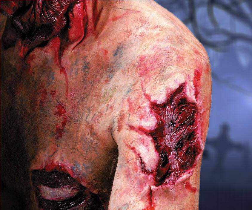 Zombie Open Wound Prosthetic - http://coolthings.us