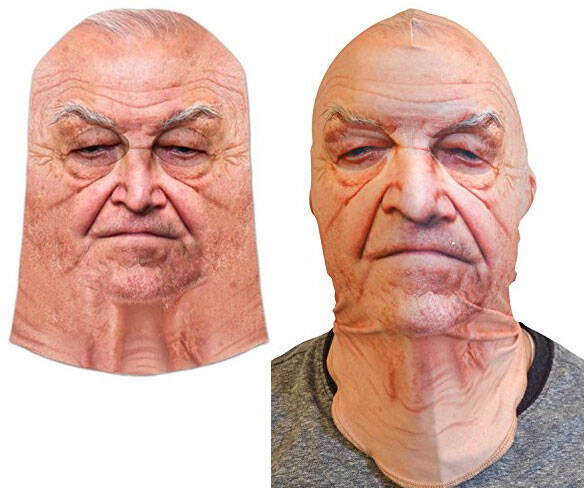 Old Man Face Mask - http://coolthings.us