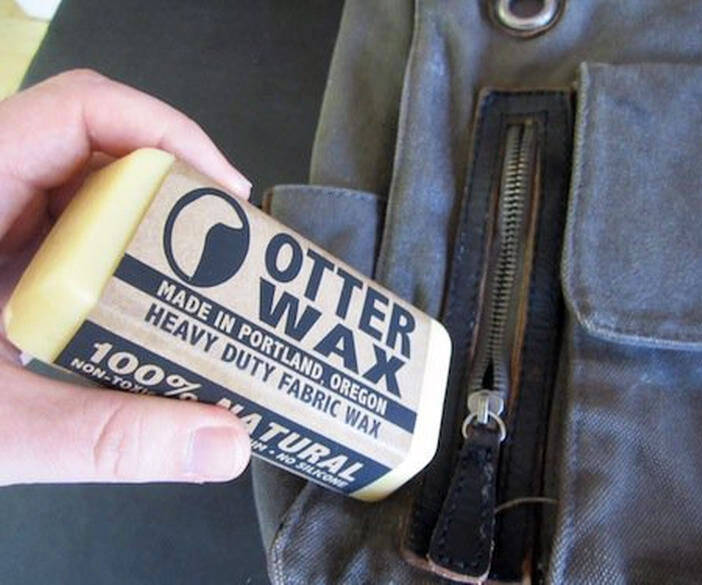 Otter Wax Water-Repellent Fabric Wax - http://coolthings.us