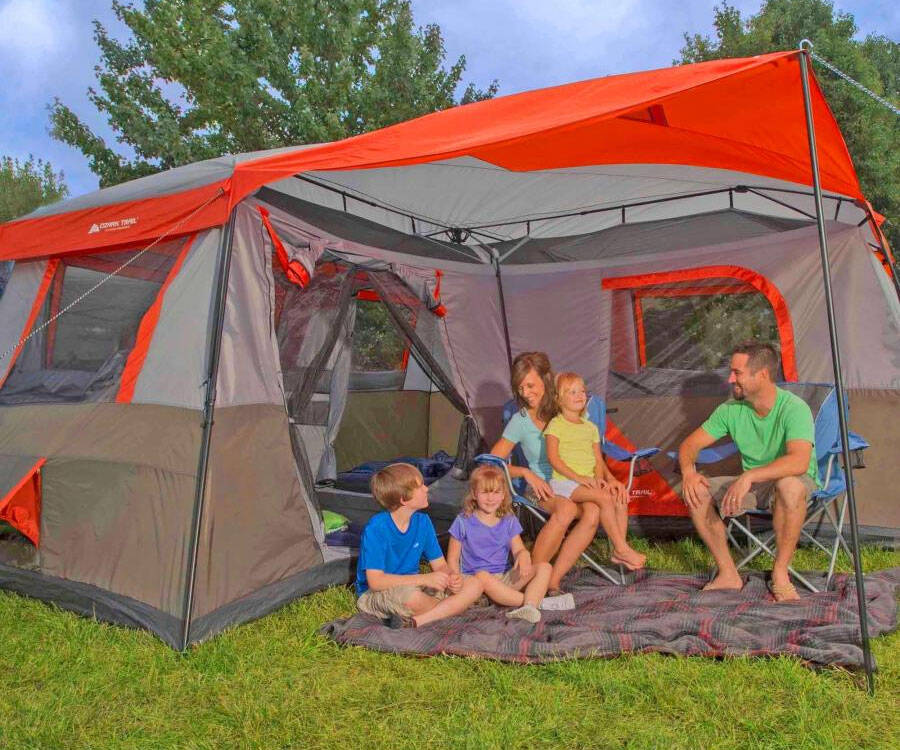 The 12-Person 3-Room Camping Tent - http://coolthings.us