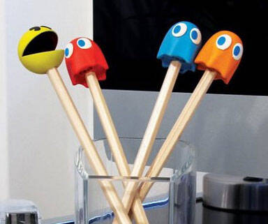Pac-Man Pencil Top Erasers - http://coolthings.us