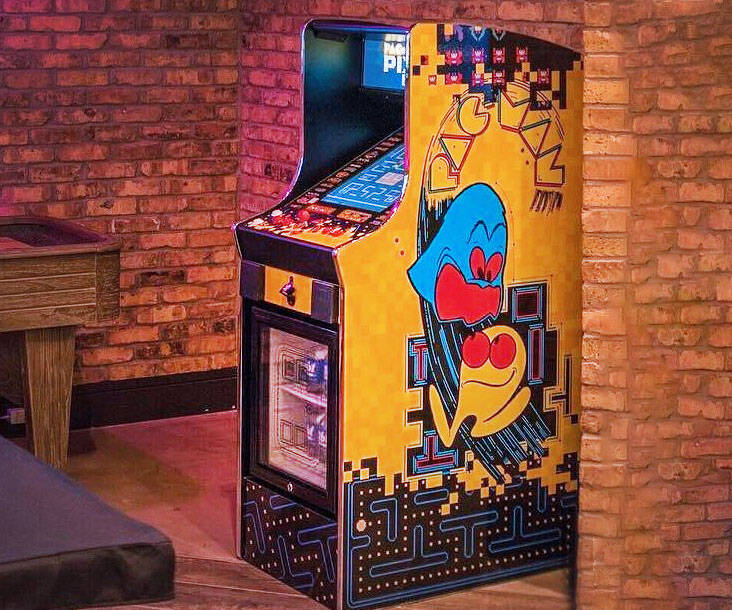 Pac-Man Arcade & Drink Cooler Machine - http://coolthings.us