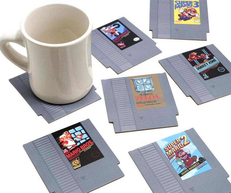 NES Cartridge Coasters - http://coolthings.us
