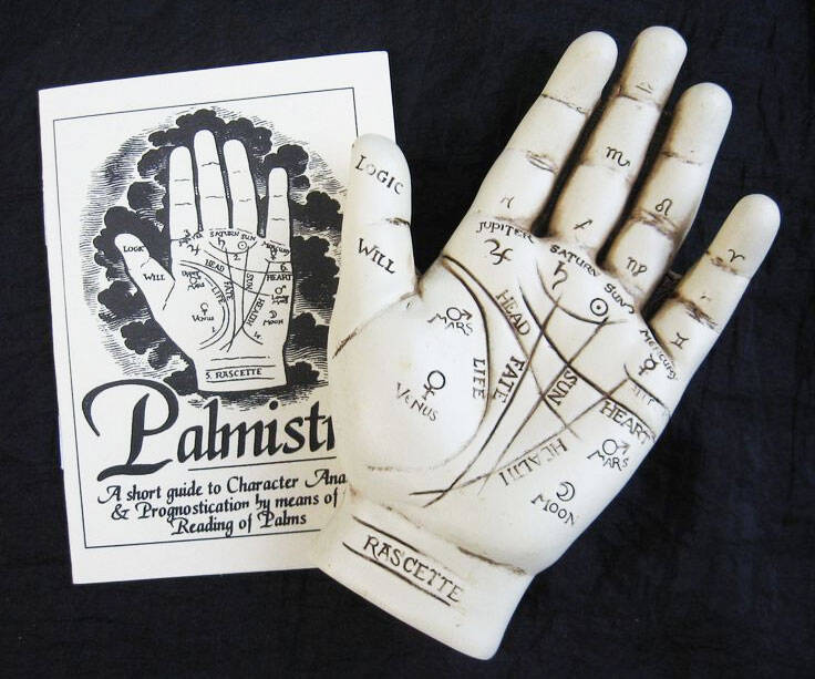 Palm Reading Hand Sculpture - coolthings.us