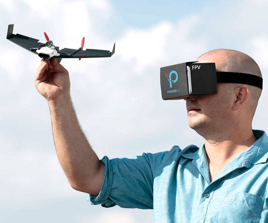 PowerUp FPV - Paper Airplane VR Drone Kit - http://coolthings.us