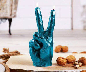 Peace Sign Candle - http://coolthings.us