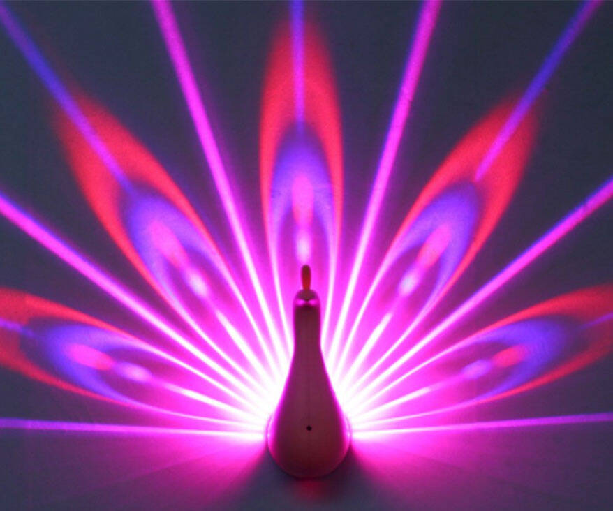 Peacock Projection Light - http://coolthings.us