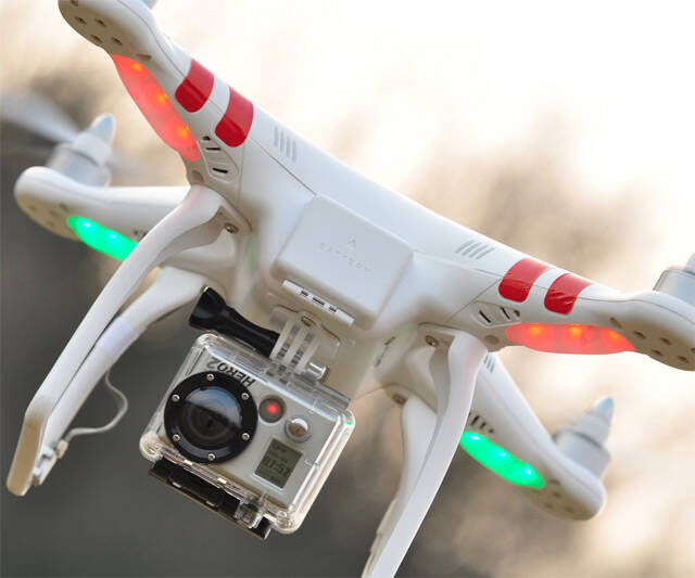 GoPro Reconnaissance Quadricopter - http://coolthings.us