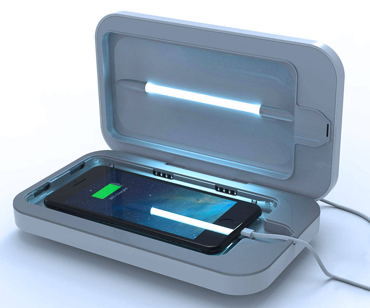 Smartphone UV Sanitizer & Charger - http://coolthings.us