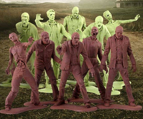 Plastic Zombie Army Men - coolthings.us