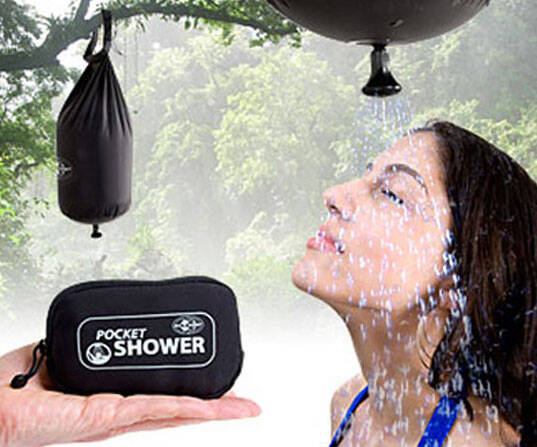 Pocket Shower - http://coolthings.us