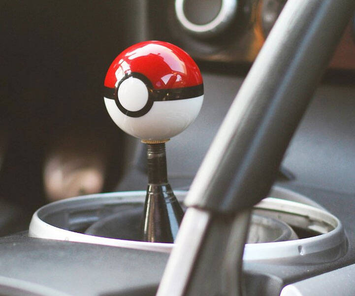 Pokeball Shift Knob - http://coolthings.us