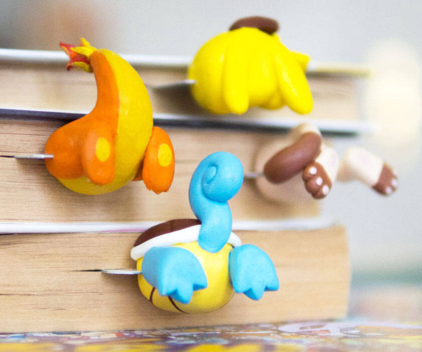 Pokemon Tail Bookmarks - http://coolthings.us