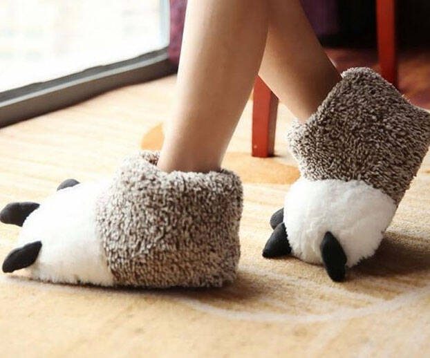 Polar Bear Paw Slippers