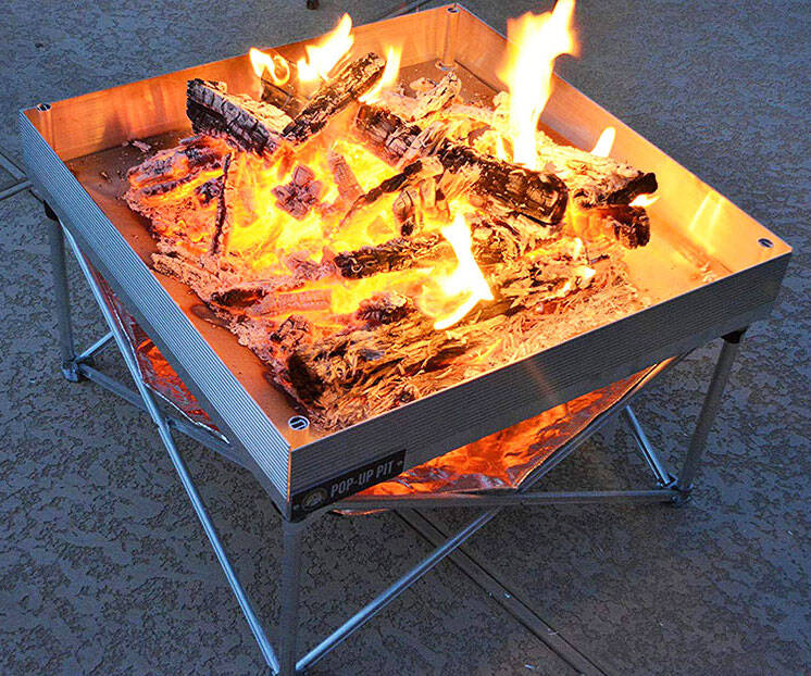 Pop-Up Fire Pit - http://coolthings.us