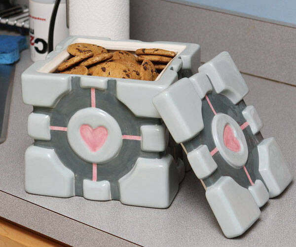 Portal Cube Cookie Jar - http://coolthings.us