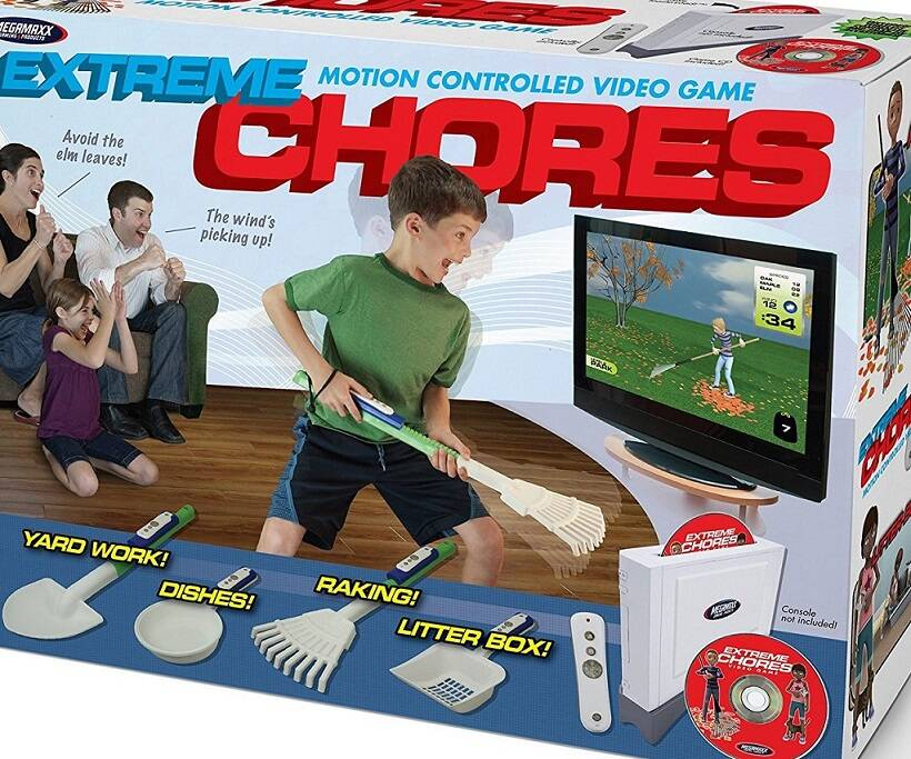 Extreme Chores Video Game - http://coolthings.us