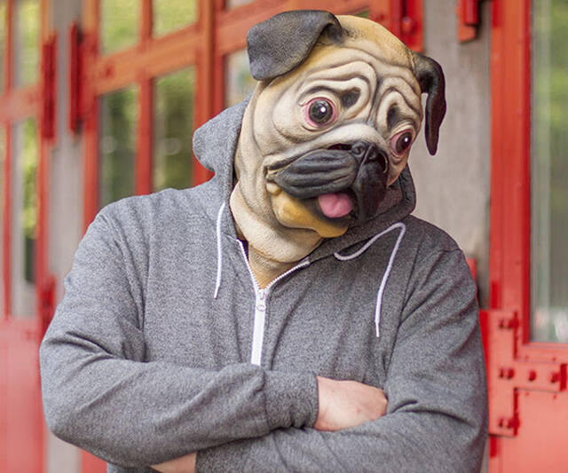 Pug Mask - http://coolthings.us