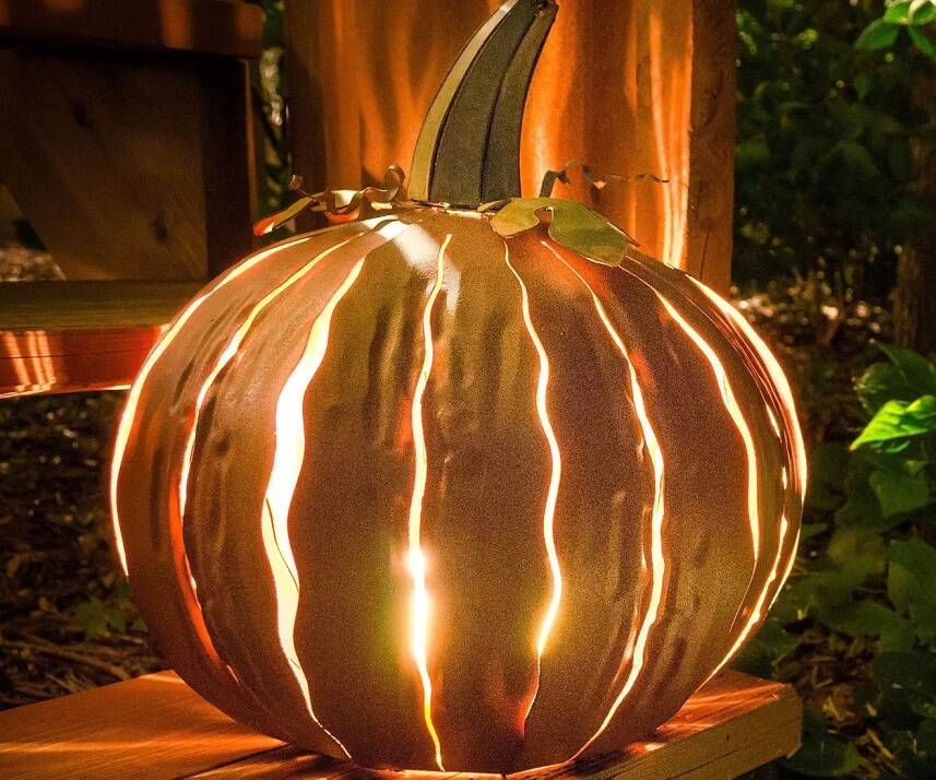 Metal Pumpkin Luminary - http://coolthings.us
