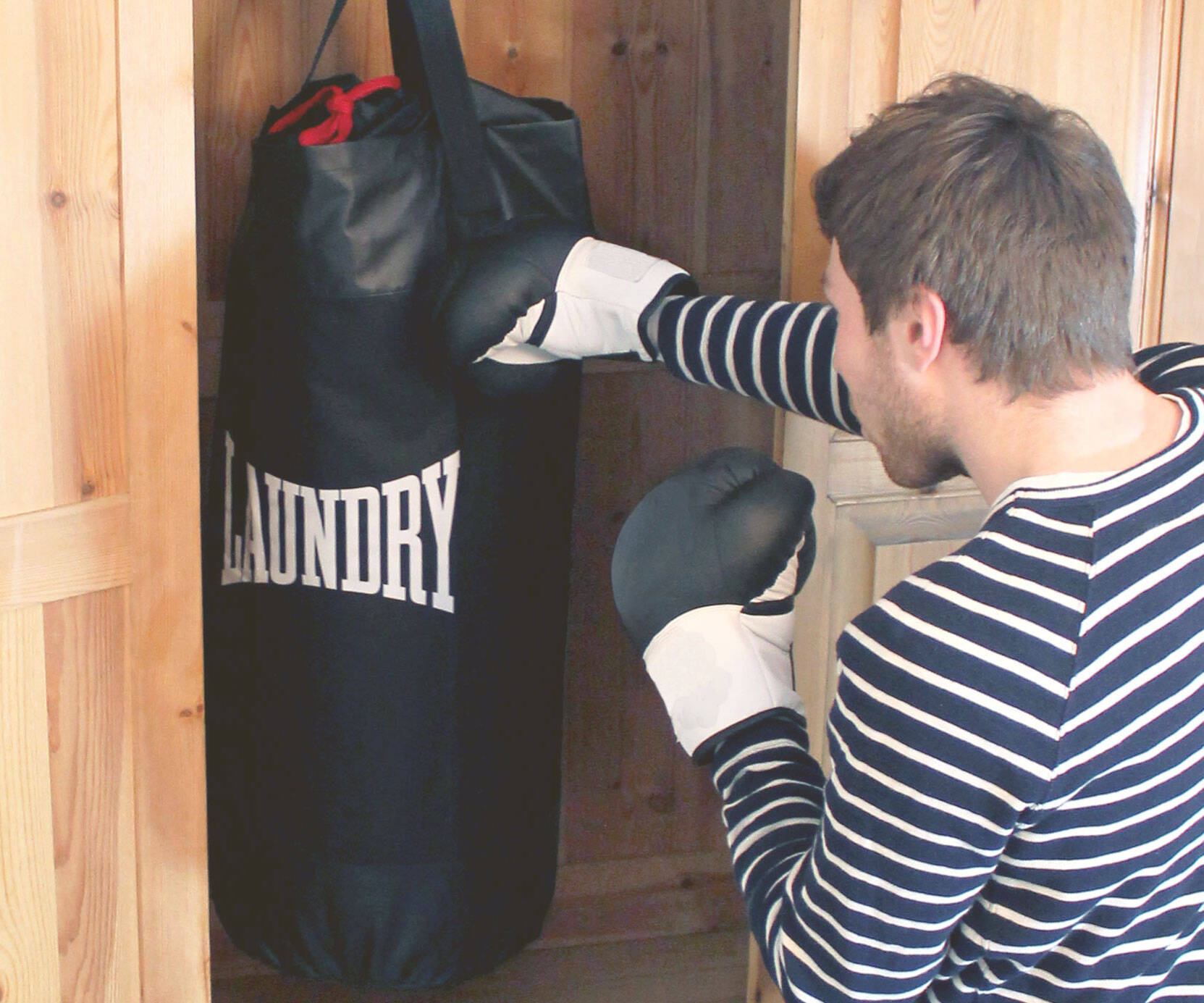 Punching Bag Laundry Bag - http://coolthings.us