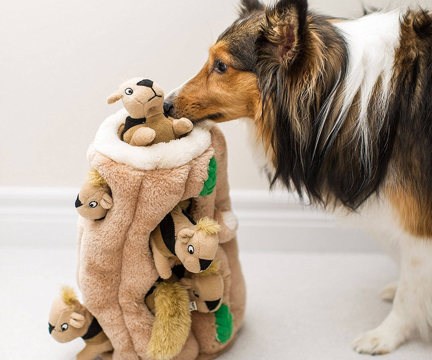 Puzzle Plush Squeaking Toys for Dogs - http://coolthings.us