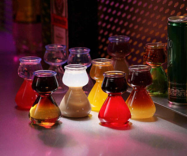 Quaffer Double Bubble Layered Shot Glass - http://coolthings.us