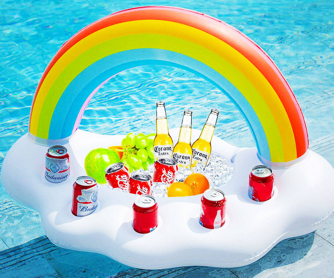 Inflatable Rainbow Cloud Bar - coolthings.us