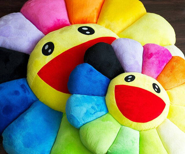 Rainbow Flower Cushion - http://coolthings.us