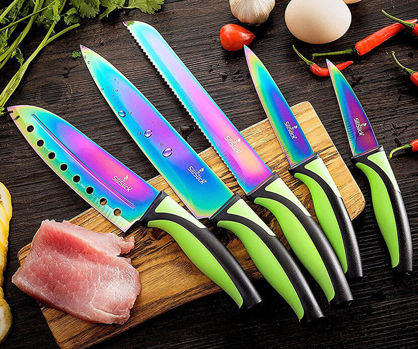 Rainbow Kitchen Knives - http://coolthings.us