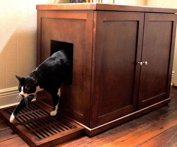 Refined Wood Litter Box Cabinet - coolthings.us
