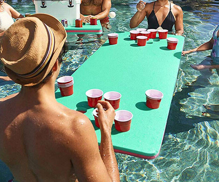 Floating Beer Pong Table - http://coolthings.us