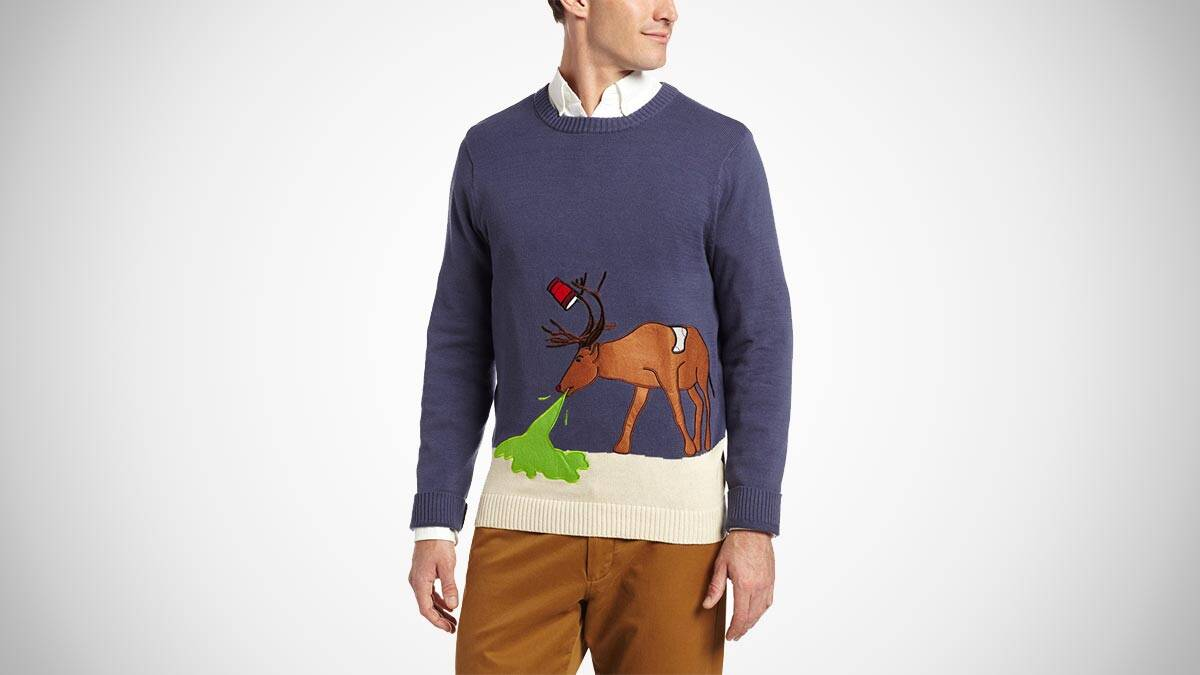 Reindeer Hangover Ugly Christmas Sweater - http://coolthings.us