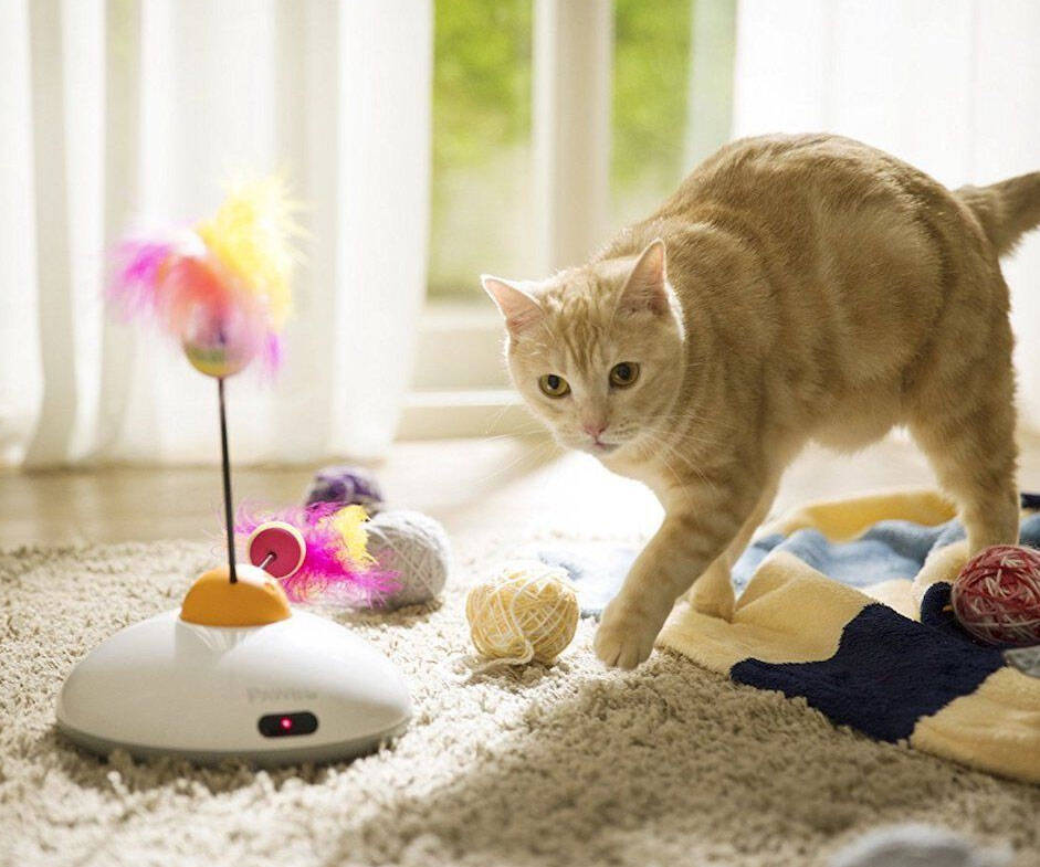 Smartphone Controlled Interactive Cat Toy - http://coolthings.us