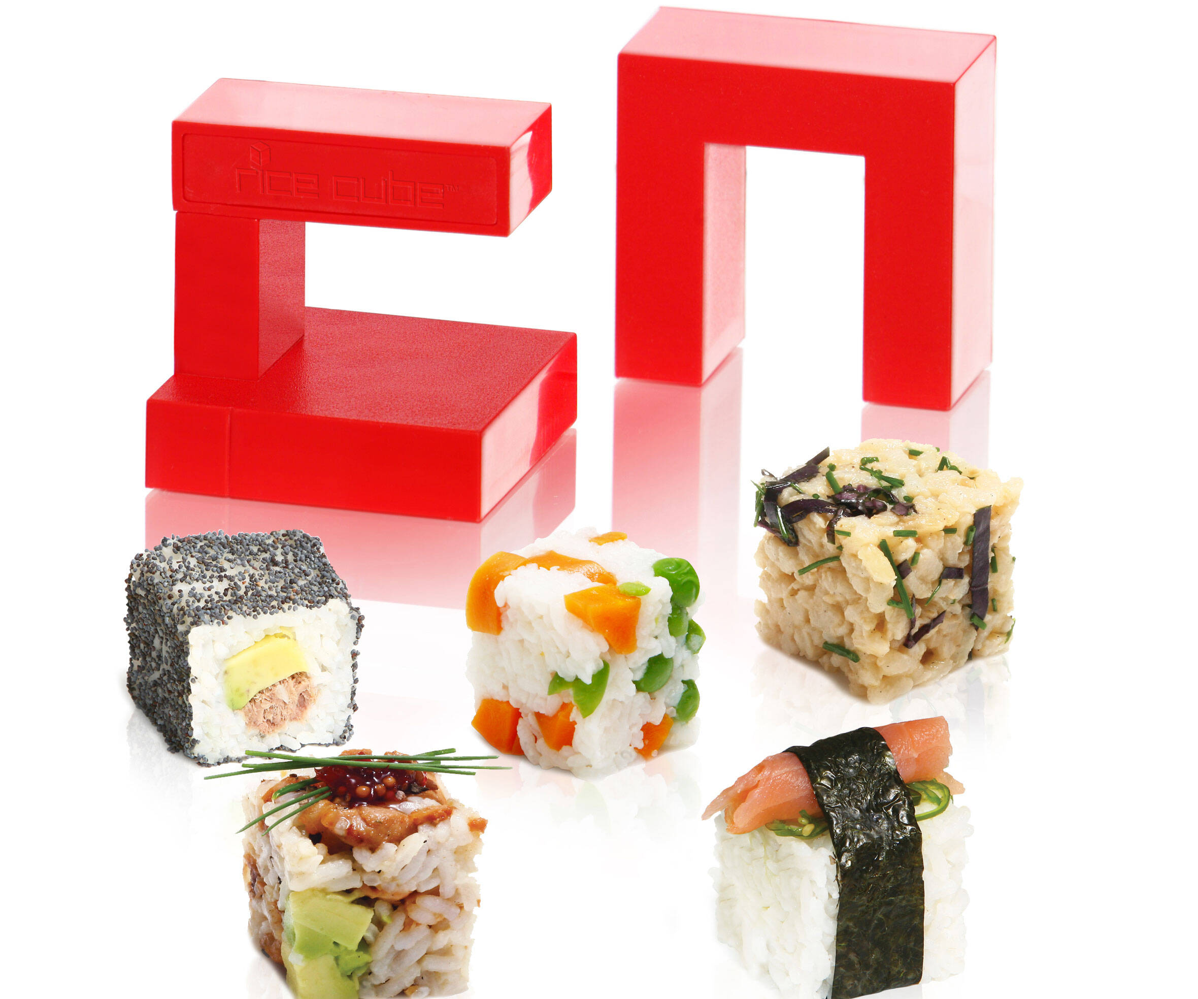 Sushi Rice Cube Maker - http://coolthings.us