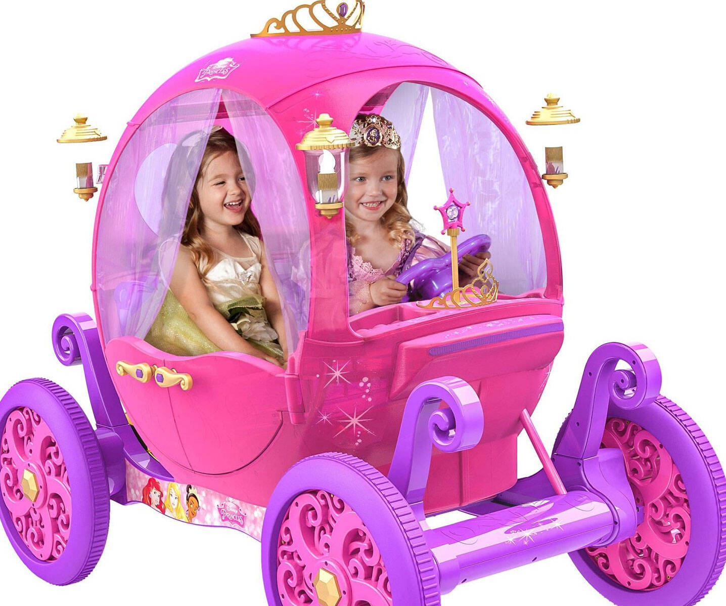 Rideable Disney Princess Pink Carriage