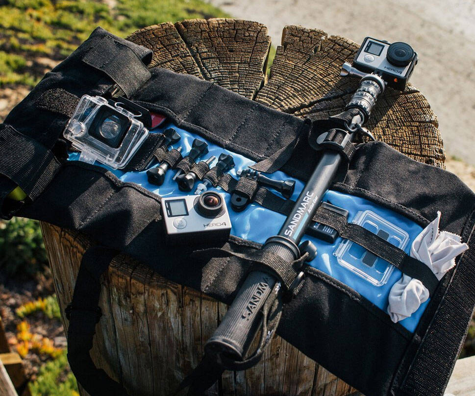 Portable Roll-Up GoPro Case - http://coolthings.us