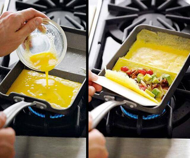 2 Section Rolled Omelet Pan by Nordic Ware - http://coolthings.us