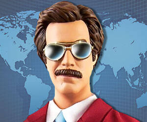 Ron Burgundy Action Figure - http://coolthings.us