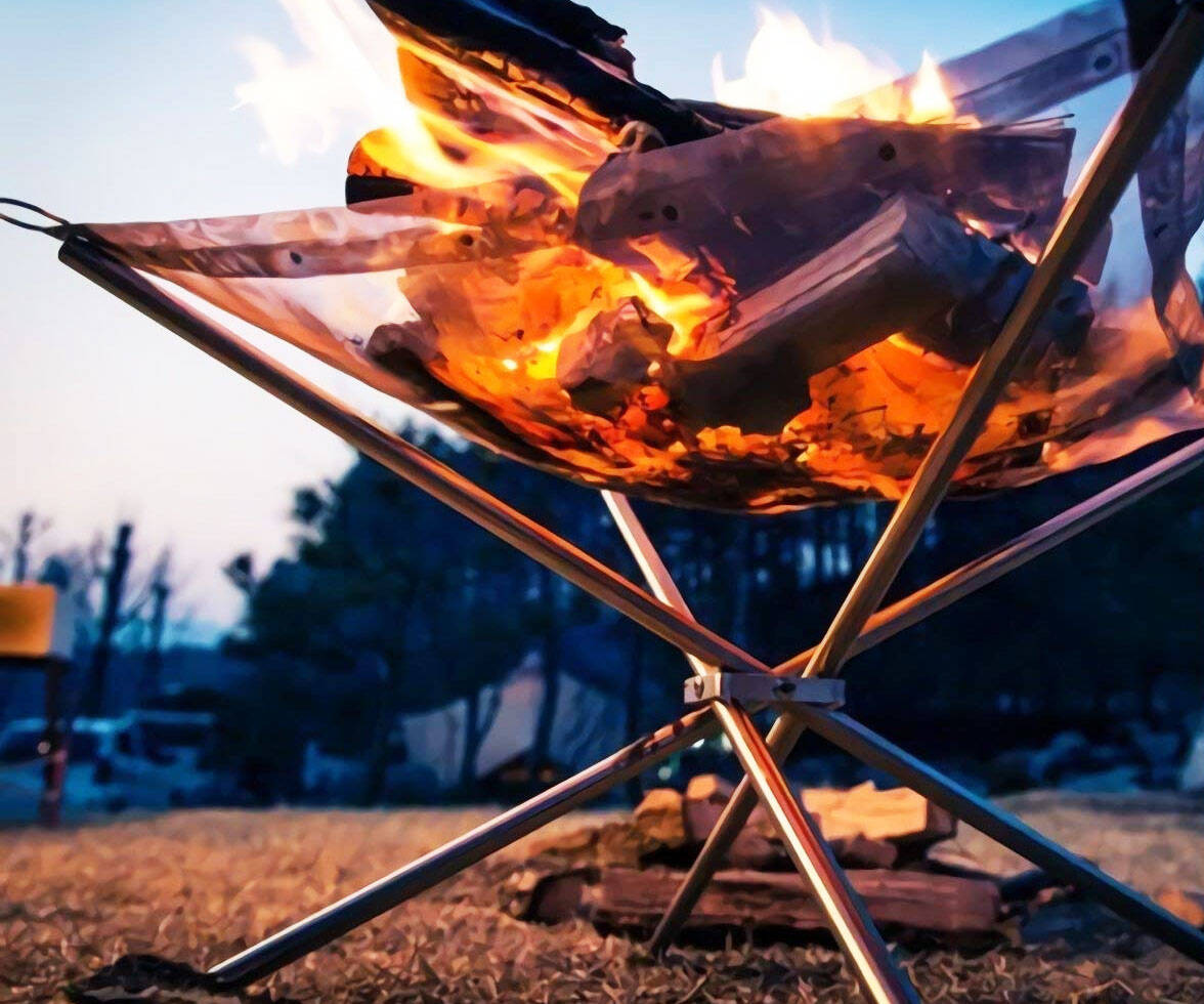 Collapsing Outdoor Firepit - http://coolthings.us