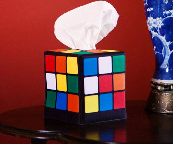 Rubik's Cube Tissue Caddy - http://coolthings.us
