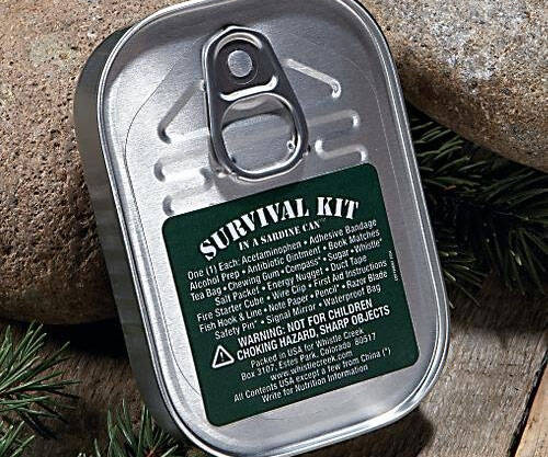 Sardine Can Survival Kit - http://coolthings.us