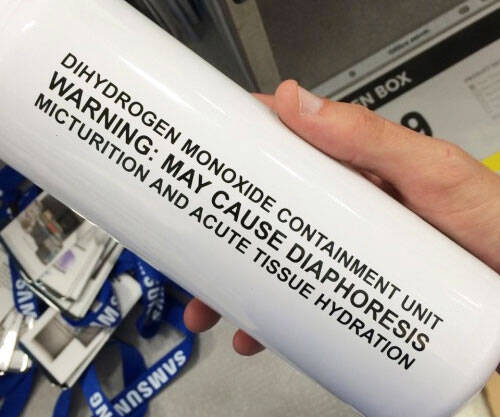 Scientific Side Effects Water Bottle