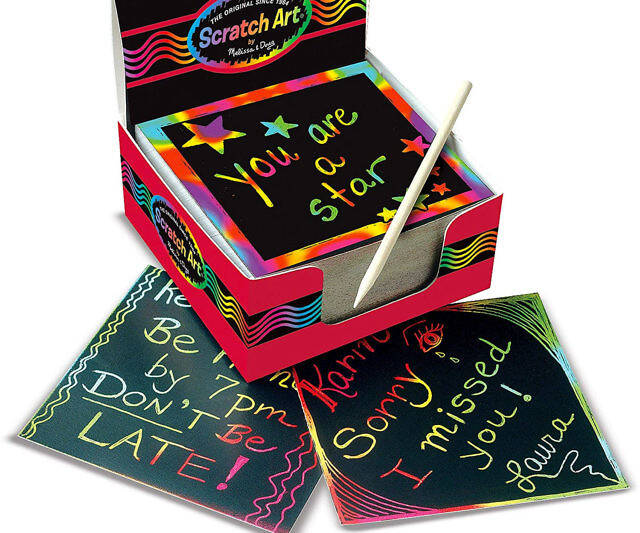Scratch Art Rainbow Mini Notes