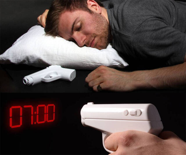 Secret Agent Projection Gun Alarm Clock - http://coolthings.us
